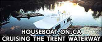 Houseboats on the Trent-Severn Waterway.